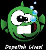 Dopefish Lives! (biały napis) - zielona wszystkożerna ryba