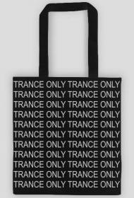 TRANCE ONLY black trendy cotton bag.