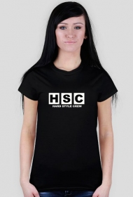 HARD STYLE CREW women white T-shirt.