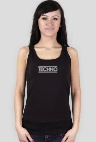 Women T-shirt TECHNO black.