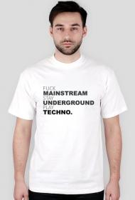 Men T-shirt FUCK MAINSTREAM white.