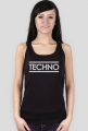 Koszulka damska bez rękawów TECHNO czarna.