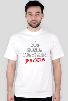 Bóg Honor Ojczyzna Broda - biała