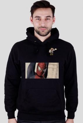 Bluza ze spiderman+Mini Skin+Obrazek z kotkami czarna/męska
