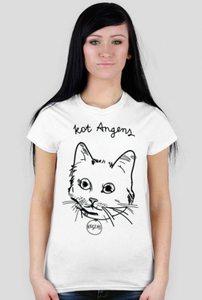 Koszulka biała - KOT ANGENS ♀