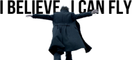 I believe I can fly - Sherlock mug - panoramic
