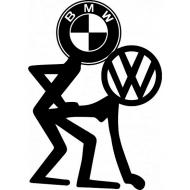 T-Shirt męski- Fuck VW