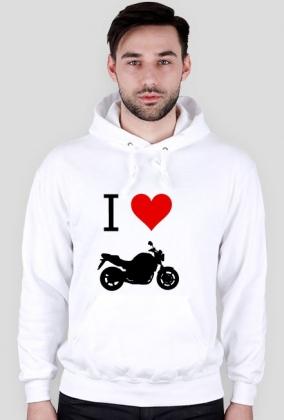 Biała Bluza Kocham Motocykle