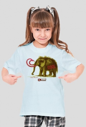 Koszulka dla dziewczynki - Mamut. Pada
