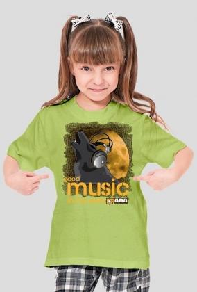 Koszulka dla dziewczynki - Wilk. Pada