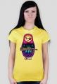 Koszulka damska - Matrioszka gangsta. Pada