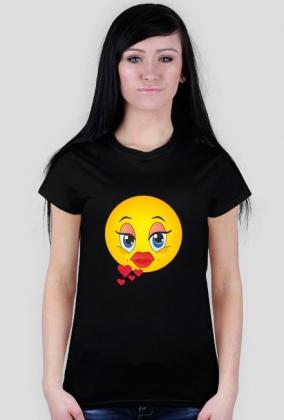 Zakochana Emotka - koszulka damska