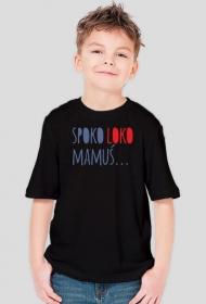 """Koszulka chłopięca """"SPOKO LOKO MAMUŚ"""" czarna"""