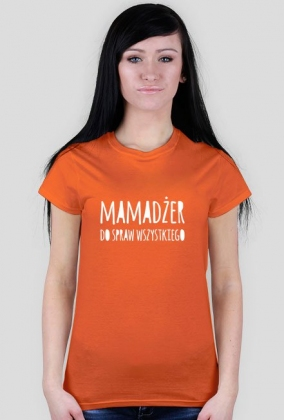 """Koszulka damska kolorowa """"Mamadżer ds. wszystkiego"""""""