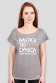 """Koszulka damska szara """"Matka to lwica"""""""