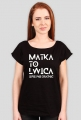 "Koszulka damska czarna ""Matka to lwica"""