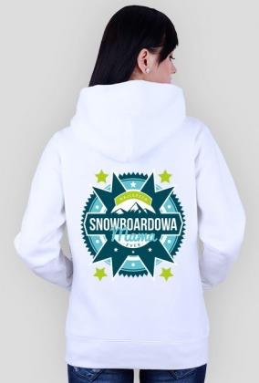Bluza damska (rozpinana) - NAJLEPSZA SNOWBOARDOWA MAMA EVER (różne kolory!)