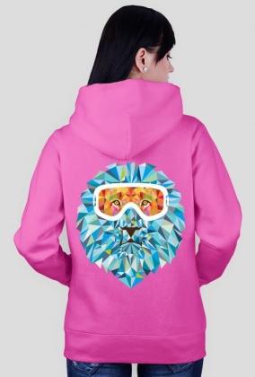 Bluza damska (rozpinana) - SNOW LION (różne kolory)