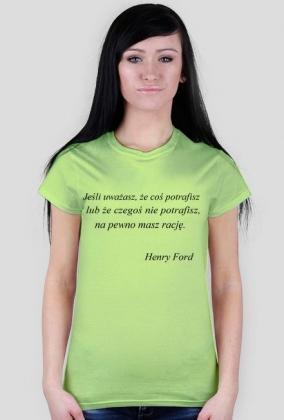 Koszulka - Henry Ford damska