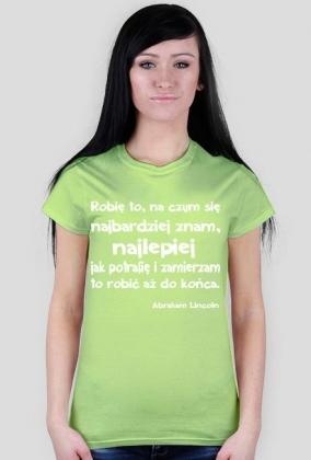 Koszulka - Abraham Lincoln damska