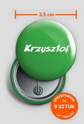 Przypinka Krzysztof