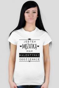 Walentynki mężatki - damski t-shirt