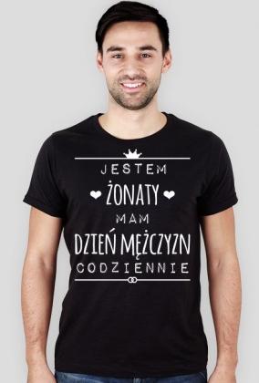 Dzień Mężczyzny Żonatego - męski t-shirt slim