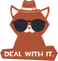 Deal with it - chcetomiec.cupsell.pl - koszulki nietypowe dla informatyków