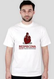 Koszulka - Bezpieczna miłość przede wszystkim - śmieszne koszulki, koszulki na walentynki - chcetomiec.cupsell.pl