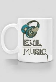Evil music  - Kubek - nietypowe i śmieszne kubki dla każdego