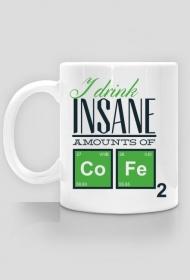 Piję niesamowite ilości kawy - Kubek - nietypowe i śmieszne kubki dla każdego