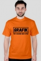 Koszulka - Grafik też czasem musi spać - dziwneumniedziala.com - koszulki dla grafika i programisty, informatyka