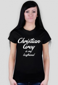 Christian Grey is my boyfriend koszulka czarna