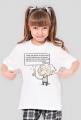 Koszulka dziewczęca - Einstein z cytatem 01