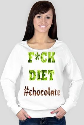 "Bluza damska Favourite ""F*ckDiet#chocolate"""