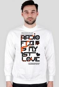 """Bluza męska """"Radio FTB Love"""" - biała"""