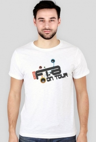 "Trendy T-shirt męski ""Radio FTB On Tour"" - biały"
