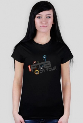 "Koszulka damska ""Radio FTB On Tour"" - czarna"