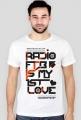 """Trendy T-shirt męski """"Radio FTB Love"""" - biały"""