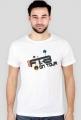"Trendy T-shirt męski ""Radio FTB On Tour"" - biały"