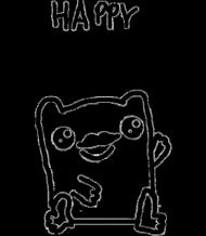 Happy Moustache Frog Dziecięca Dziewczęca