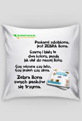"""Poszewka na """"Jaśka"""" z bajką - ZEBRA"""