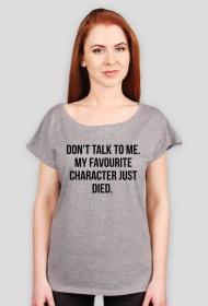 Don't talk to me - grey & white