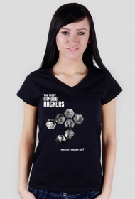 Famous Hackers (one side, v-neck)
