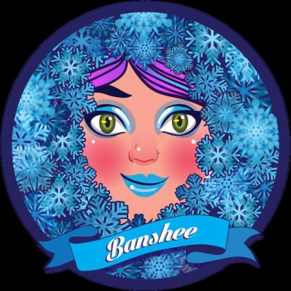 Banshee w śnieżynkach na kubku!
