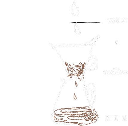 water & coffee mix t-shirt