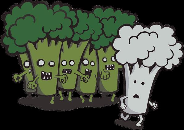 Zombie brokuły - wyczarovane.pl