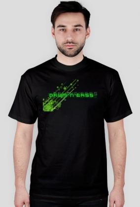 Koszulka Drum And Bass Green Bubbles (czarna)