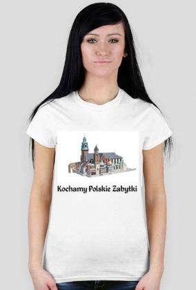 Koszulka damska Kochamy Polskie Zabytki