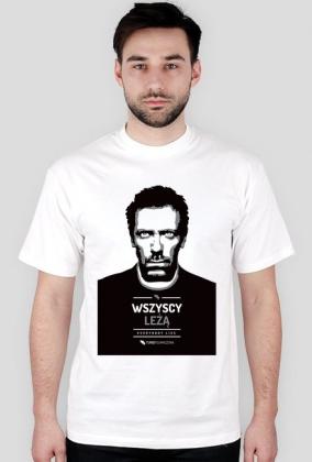 Dr House - Wszyscy leżą (Everybody lies) - bardzo męska koszulka